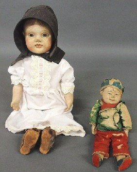 "Victorian Composition Head Doll 21.5""h., Late 19th"
