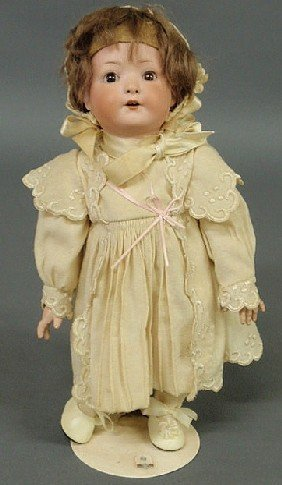 German Heubach Bisque Head Doll, Early 19th C. 13