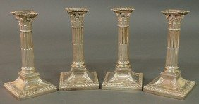 Set Of Four Edward VII Neoclassical Style Sterling