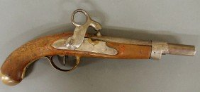 Dutch Military Percussion Pistol Dated 1815 With B