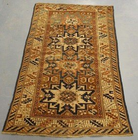 Oriental Hall Mat With Overall Geometric Medallio
