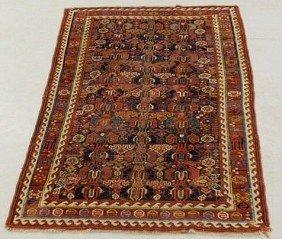 Caucasian Oriental Center Hall Carpet, Ivory Bord