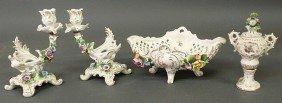 Four-piece German Porcelain Table Set With Floral