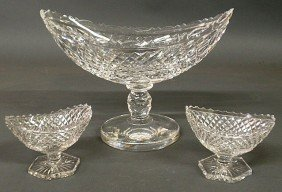 "Signed Waterford Cut Crystal Centerpiece Vase 9""h"