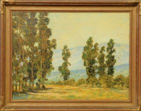 Oil On Canvas Impressionist Landscape Painting Wi