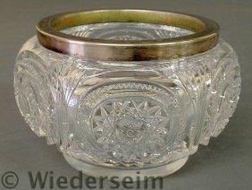 Cut Glass Centerpiece Bowl, C.1920, Hob Star Patt