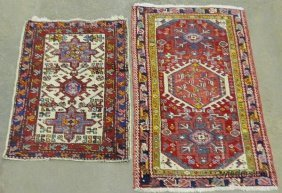 Two Heriz Oriental Throw Mats. 2�x2�9� & 2�3�x3�8�
