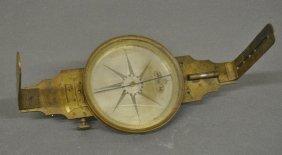 """Brass Surveyor's Compass Signed """"d. Bafsett,"""