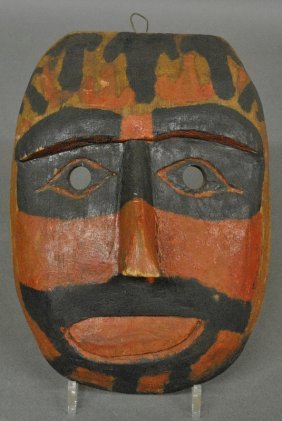 Northwest Coast Paint Decorated Carved Kwakwaka'waka