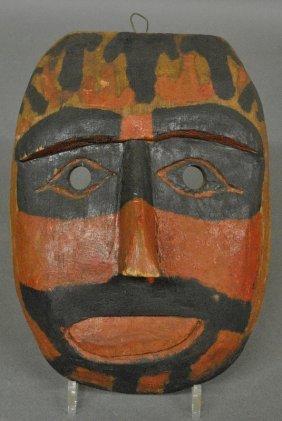 Northwest Coast Paint Decorated Carved Kwakwaka'waka