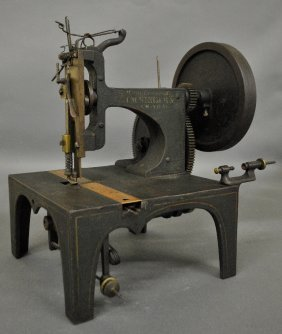 Cast Iron Singer Sewing Machine #1 With The Original