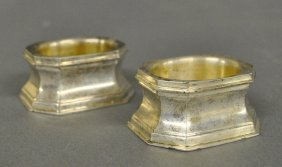 Pair Of Sterling Silver Master Salts By Cartier.