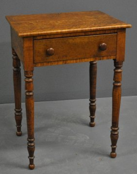 Sheraton Bird's Eye Maple One-drawer Stand, C.1820.