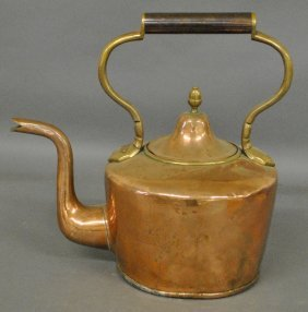 Massive English Copper/brass Kettle, 19th C.
