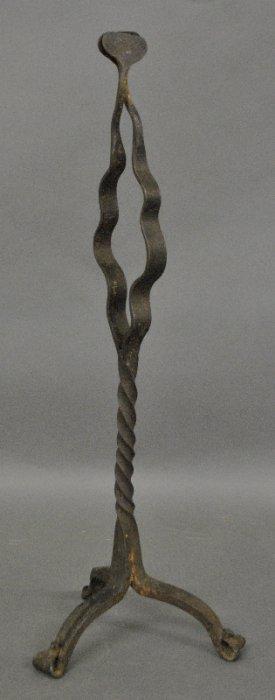 Unusual Lancaster County Wrought Iron Fireplace Splint