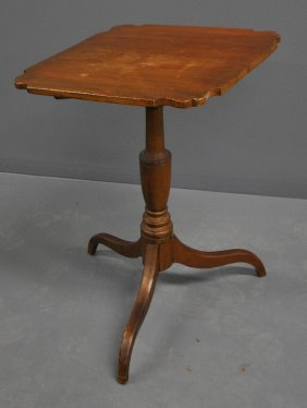 Federal Cherry Candle Stand, C.1800, With Spider Legs.