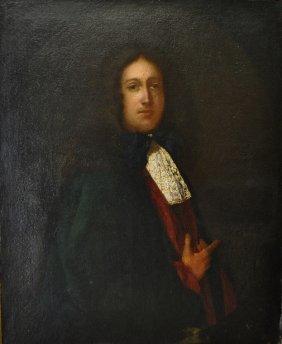 Large Oil On Canvas Portrait Of Bartholomew Penrose