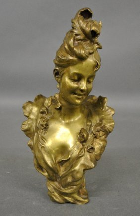 Bruyneel, Victor [belgium, 1859-?] Bronze Bust
