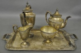 Sterling Silver Tea Service By Manchester Silver Co. To