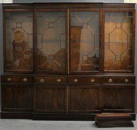 Georgian Mahogany Breakfront Library Bookcase, C.1820.