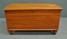 """Pennsylvania Red Painted Blanket Chest, C.1830. 24""""h.,"""