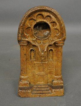German Stoneware Watch Safe, C.1870