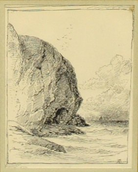 Bricher, Alfred Thompson [american, 1837-1908] Pen