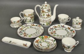 Fifteen Pieces Of Crown Staffordshire China.