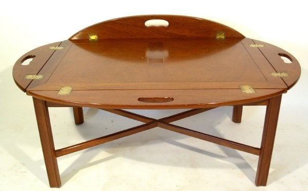 78 Mahogany Butler 39 S Tray Top Coffee Table By Brandt Lot 78