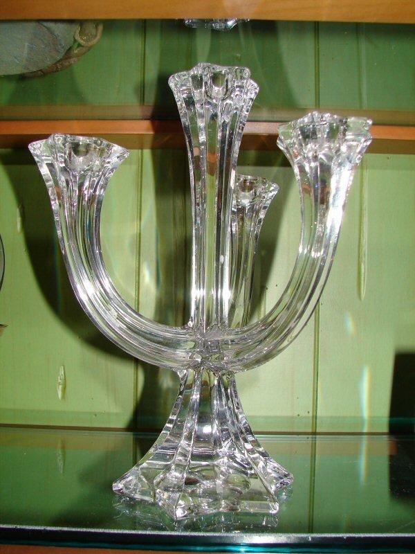 103 villeroy boch crystal candelabra lot 103 for Villeroy boch crystal