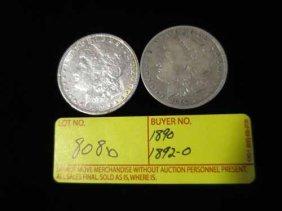 1890 And 1892-o Morgan Dollars
