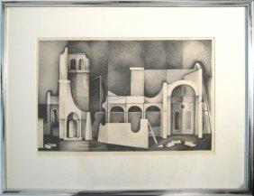Clinton Adams (born 1918) False Buildings , 1949