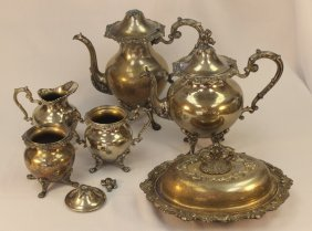 Six Piece Silver Plated Tea Set