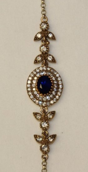 Sapphire Estate Bracelet Set In Sterling Silver.