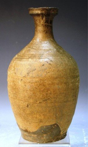 Korean Irabo Stoneware Vase, 13th-14th Century
