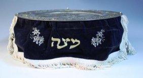 Seder Plate W/ Matzah Shelves & Curtain