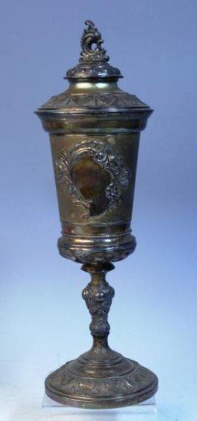 Nouveau Silver Urn W/ German Engraving