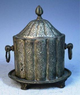 Middle Eastern Metal Cigar Box