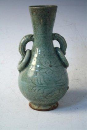 Chinese Celedon Glazed Bottle Vase Ming Dynasty