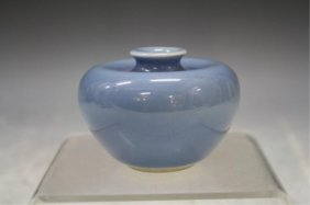 Chinese Blue Glazed Porcelain Water Pot