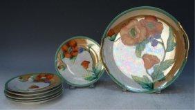 Japanese Noritake Hand Painted Platter & 6 Plates