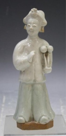 Chinese Ceramic Figure W/ Ruyi Scepter 18th C.