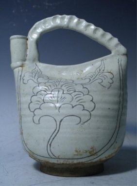 Chinese Cizhou Ware Ewer Song Dynasty