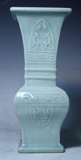 Chinese Pale Blue Porcelain Vase