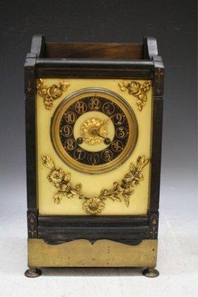 Wood, Metal & Stone Mantle Clock