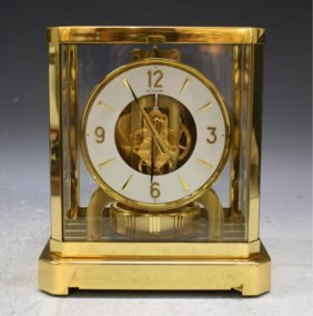 Le Coultre Brass Mantle Clock Swiss