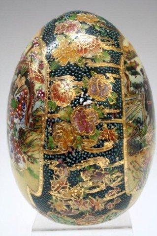 Royal Satsuma Porcelain Egg Lot 180