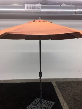 Orange Umbrella With Base