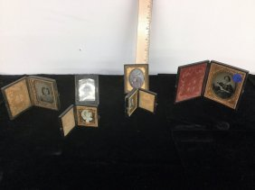 Set Of Six Antq Daguerreotype Photo And Frames
