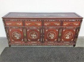 Inlaid Oriental China Cabinet